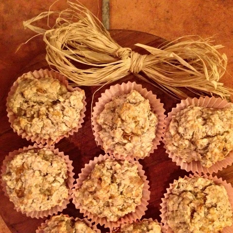Vegan Banana and Walnut Breakfast Muffins